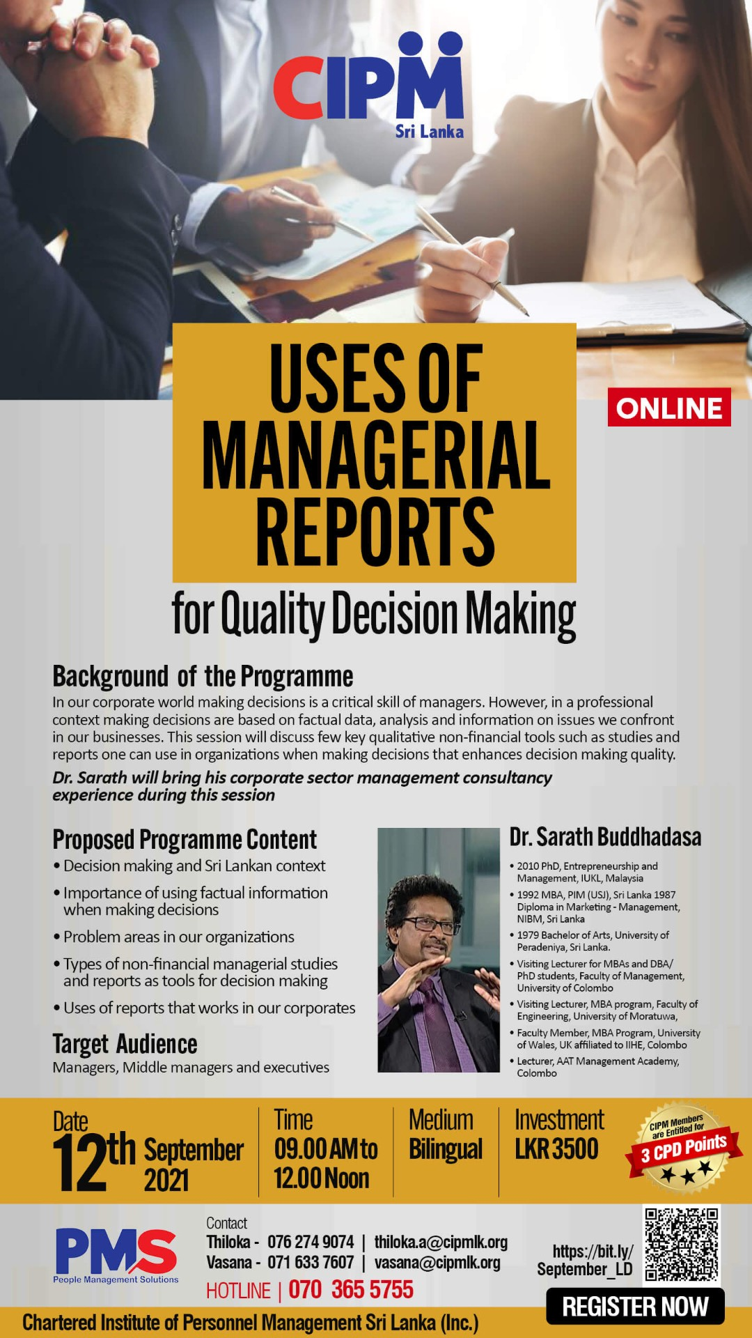 Uses of Managerial Reports for Quality Decision Making