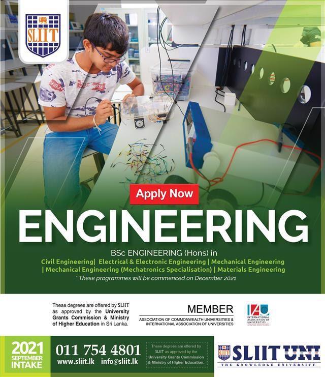 BSc Engineering (Hons) Degree Programmes at SLIIT