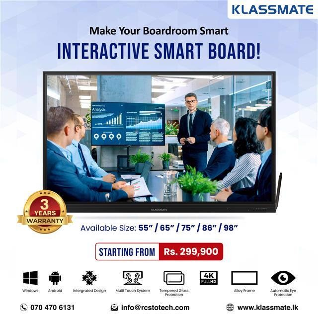 Make Your Boardroom Smart with KLASSMATE Interactive Smart Board!