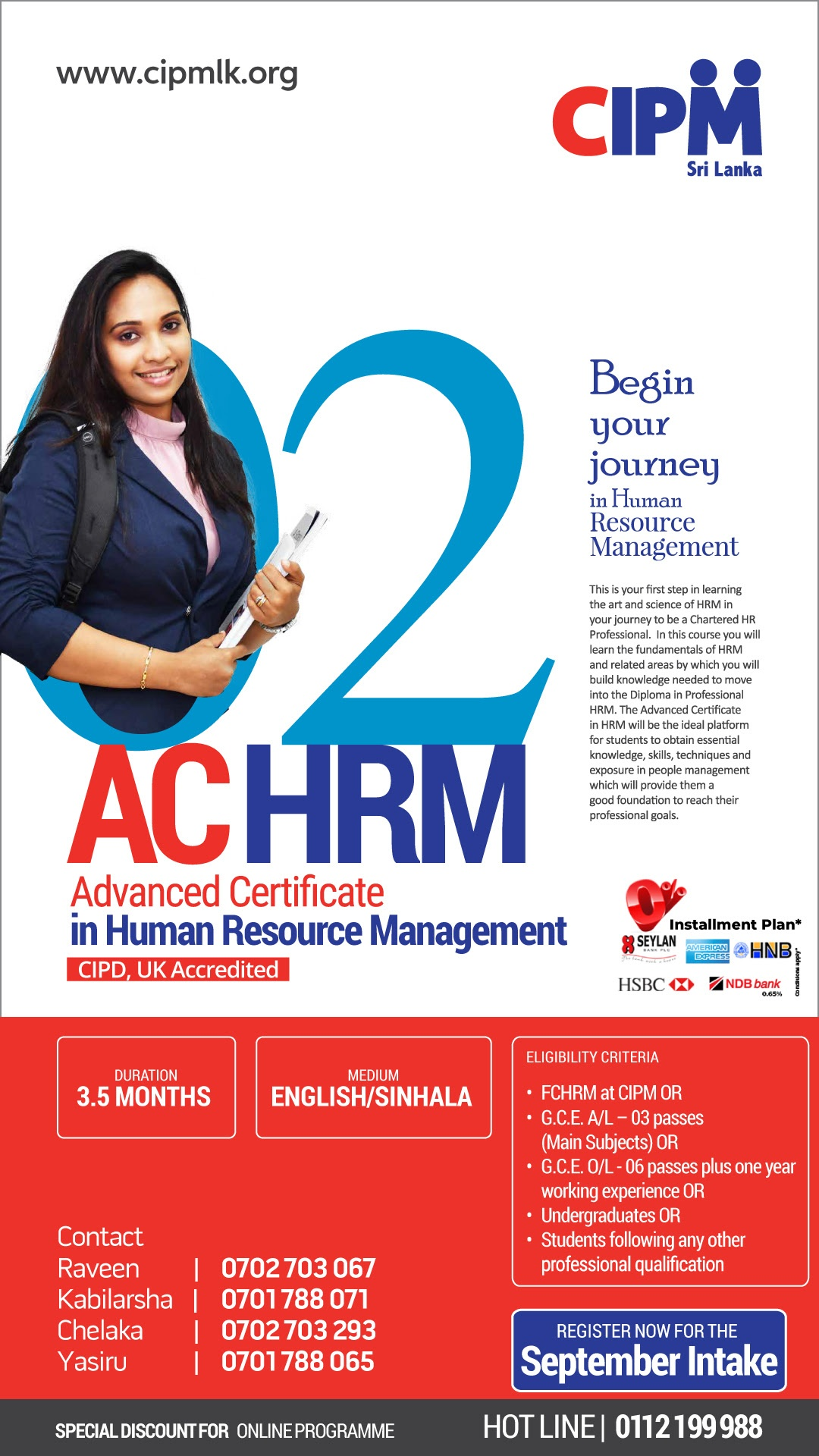 Prepare for a promising career in HR