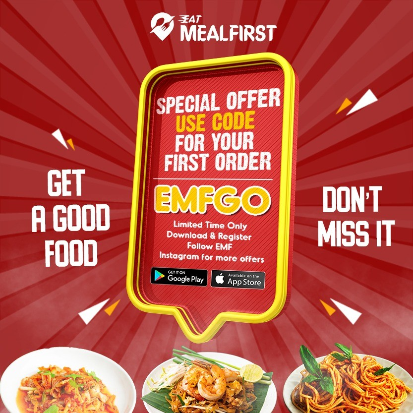 Eat MealFirst - Special Offer ! Use code - EMFGO for your first order