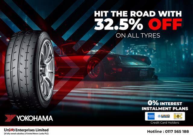 Hit the road with 32.5% Off on Yokohama Tyres