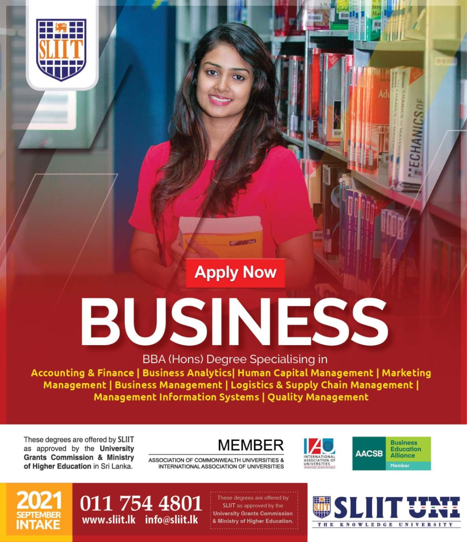 SLIIT Business Management Degree Programmes