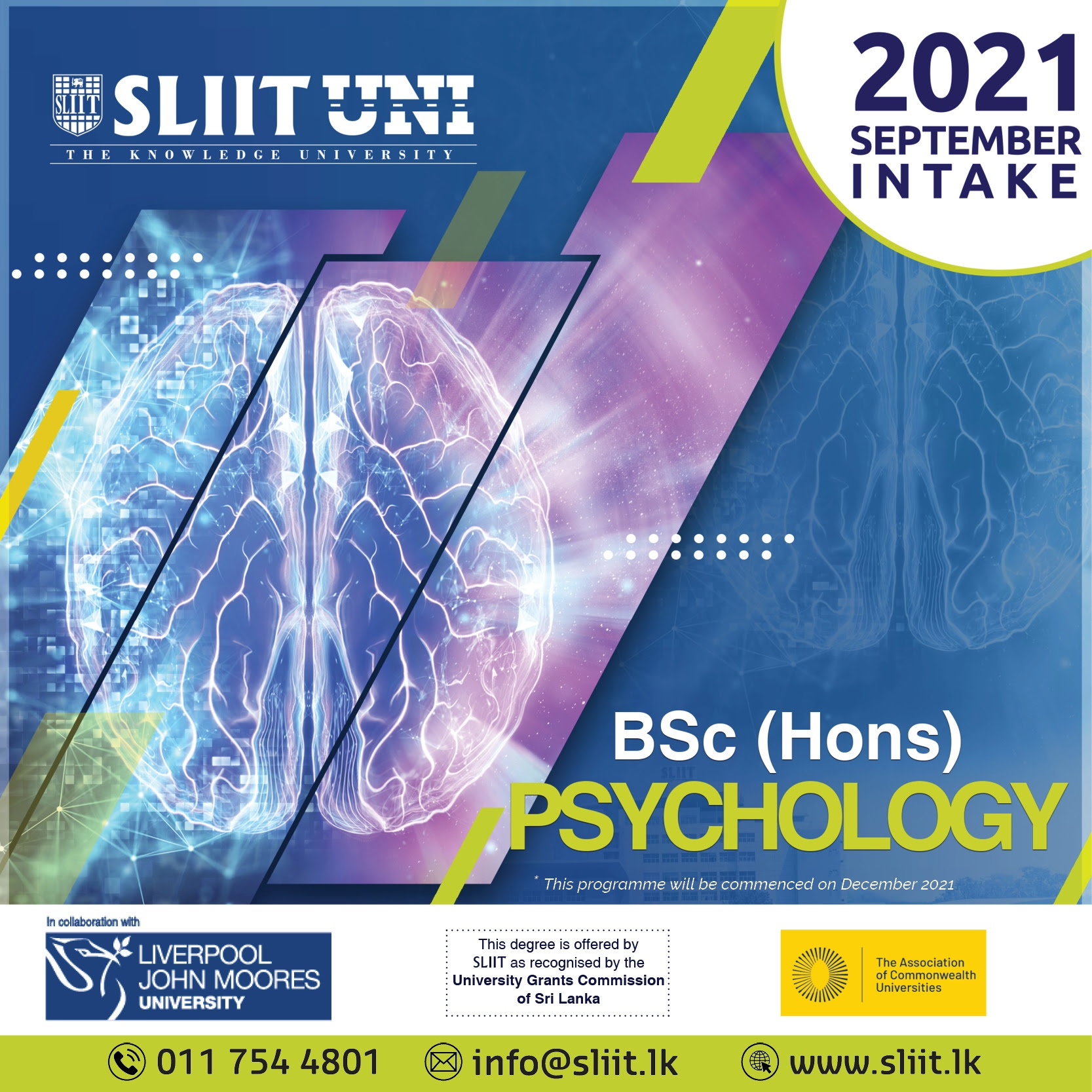 Complete a British Psychology Degree Now at SLIIT