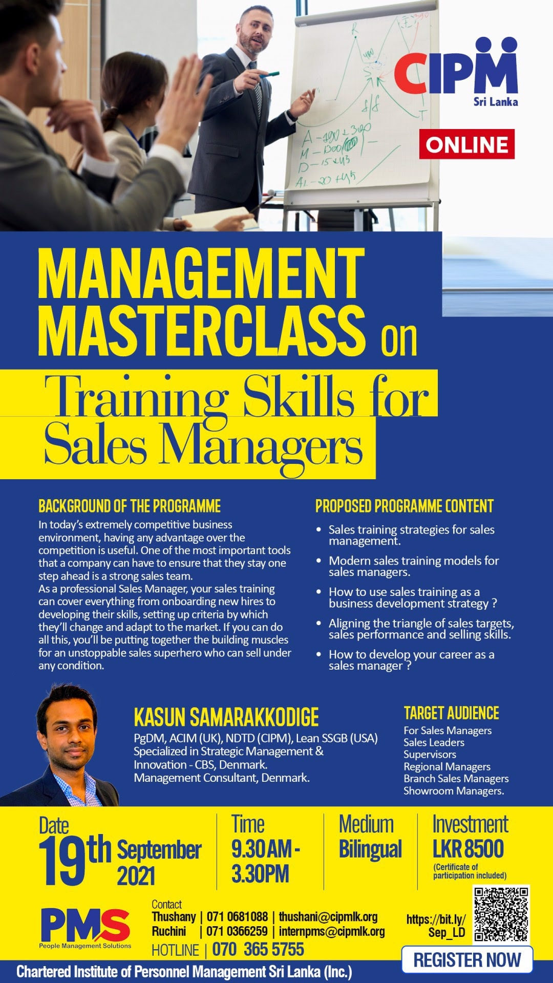 Management Masterclass on Training Skills for Sales Managers