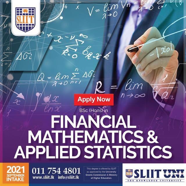 BSc (Hons) Financial Mathematics & Applied Statistics Degree at SLIIT