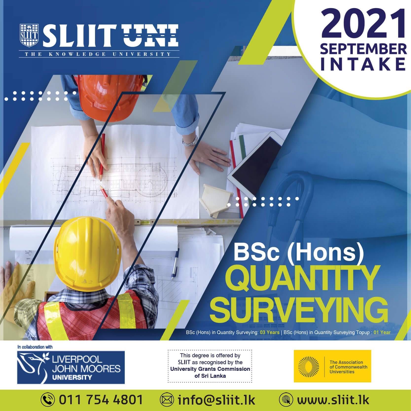 A British Quantity Surveying Degree Now at SLIIT