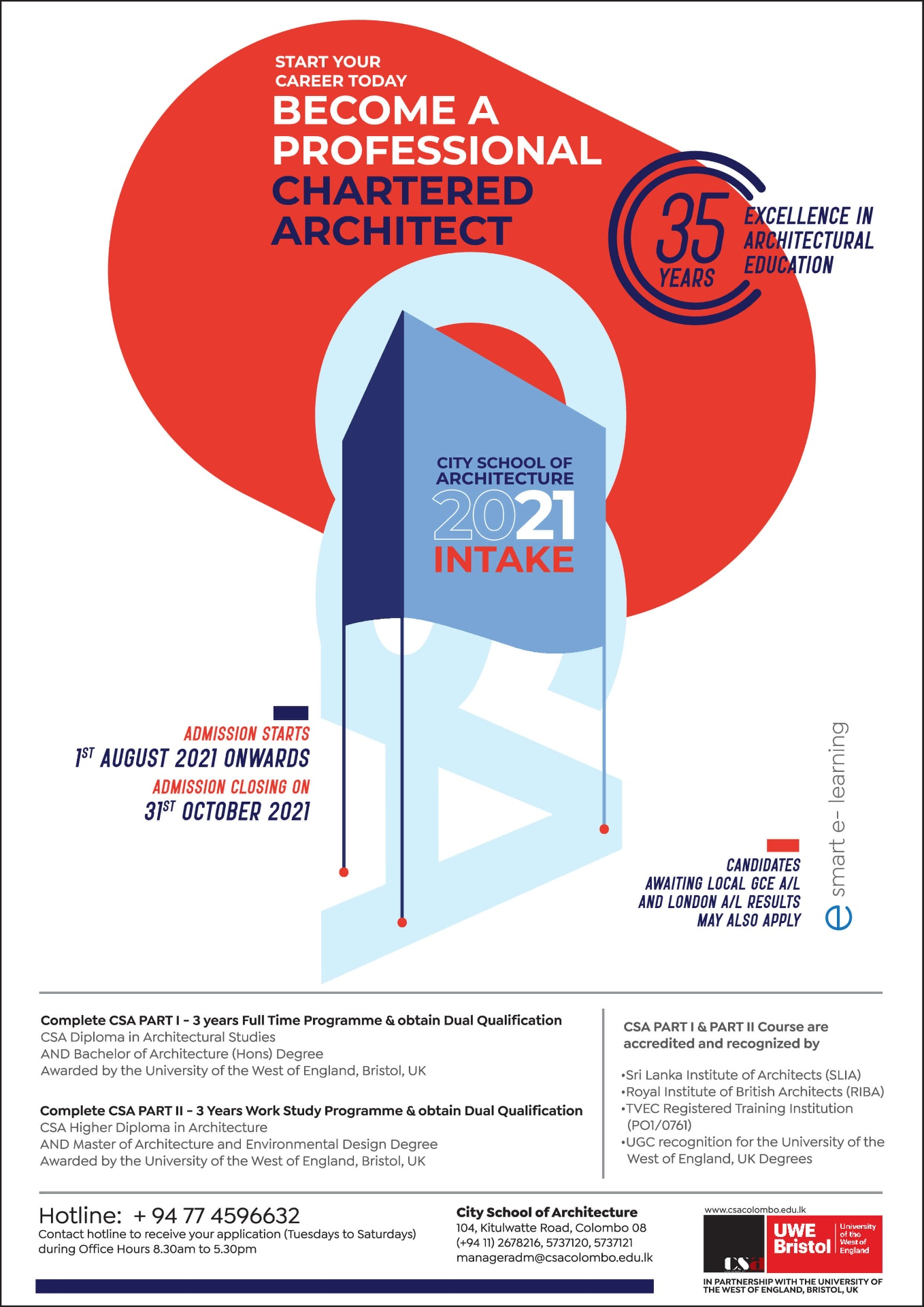 Become a Professional Chartered Architect - City School of Architecture 2021 Intake