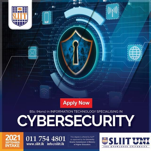 Obtain BSc (Hons) in Cybersecurity Degree at SLIIT
