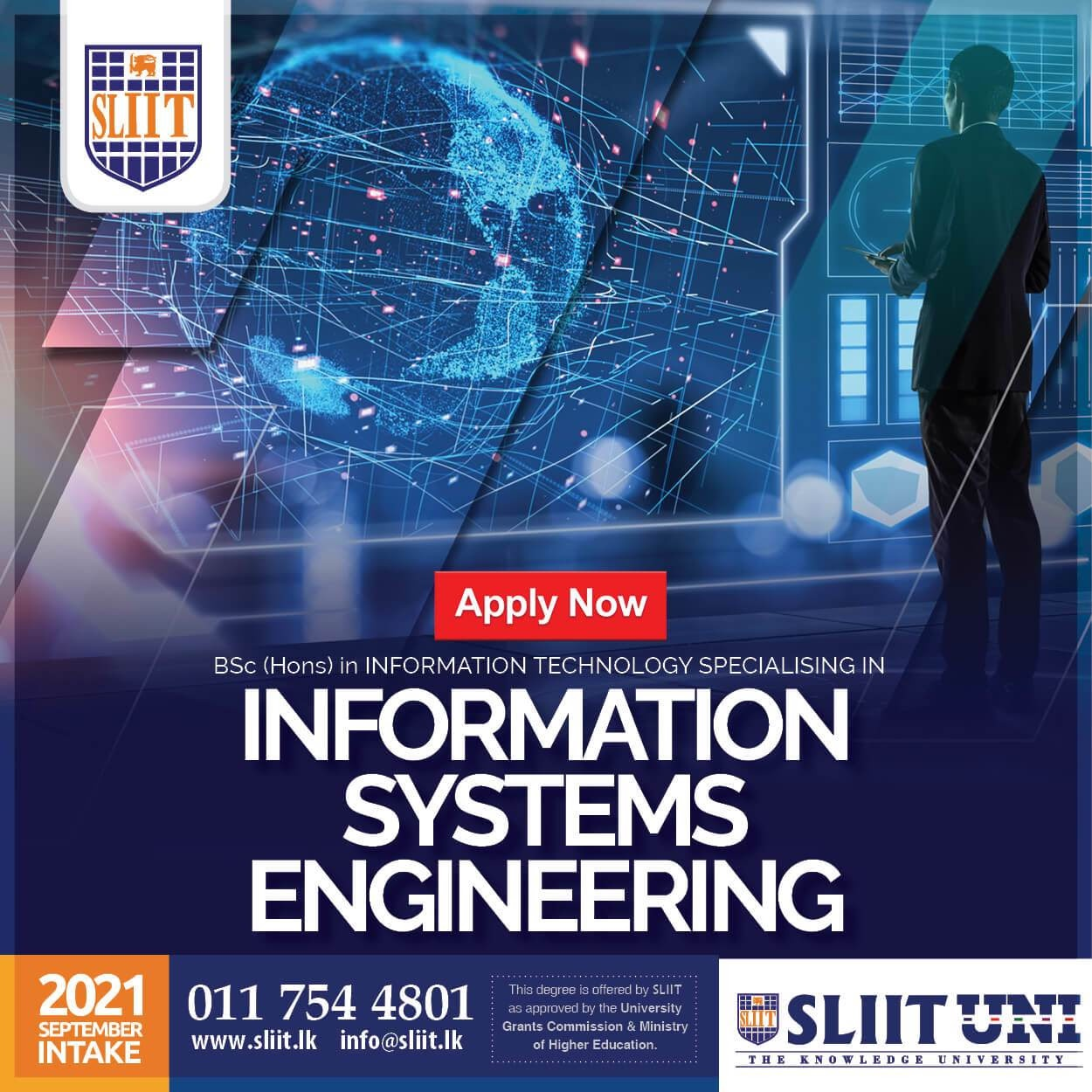 BSc (Hons) in Information Systems Engineering Degree Programme at SLIIT