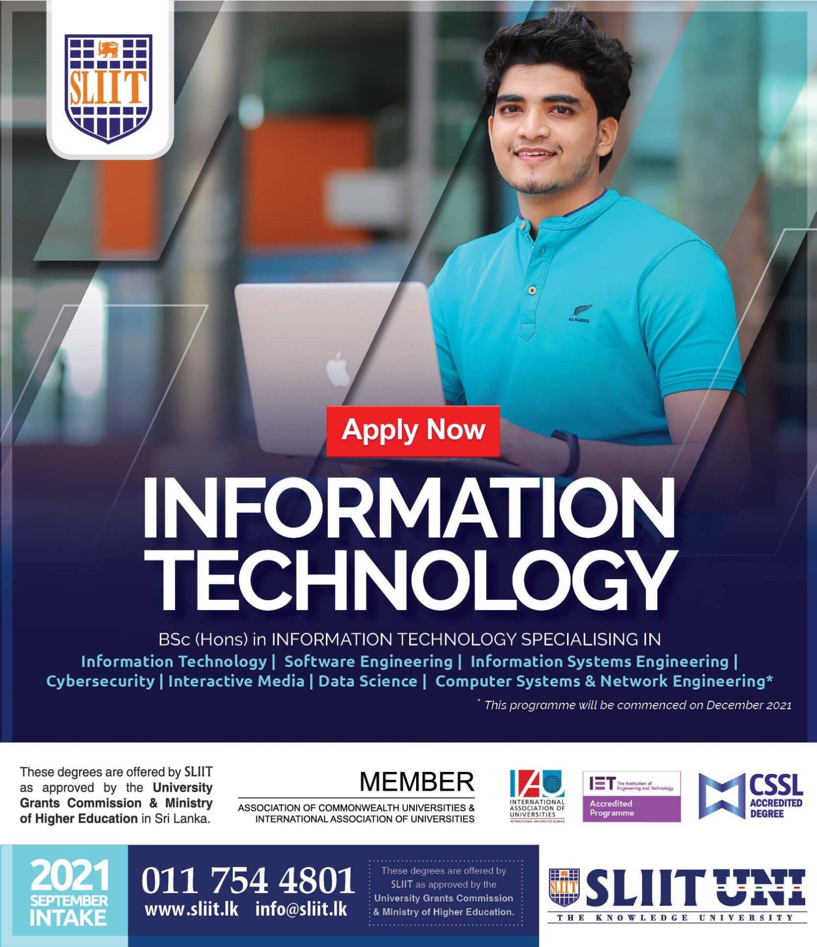 Register now for Computing Degree Programmes at SLIIT