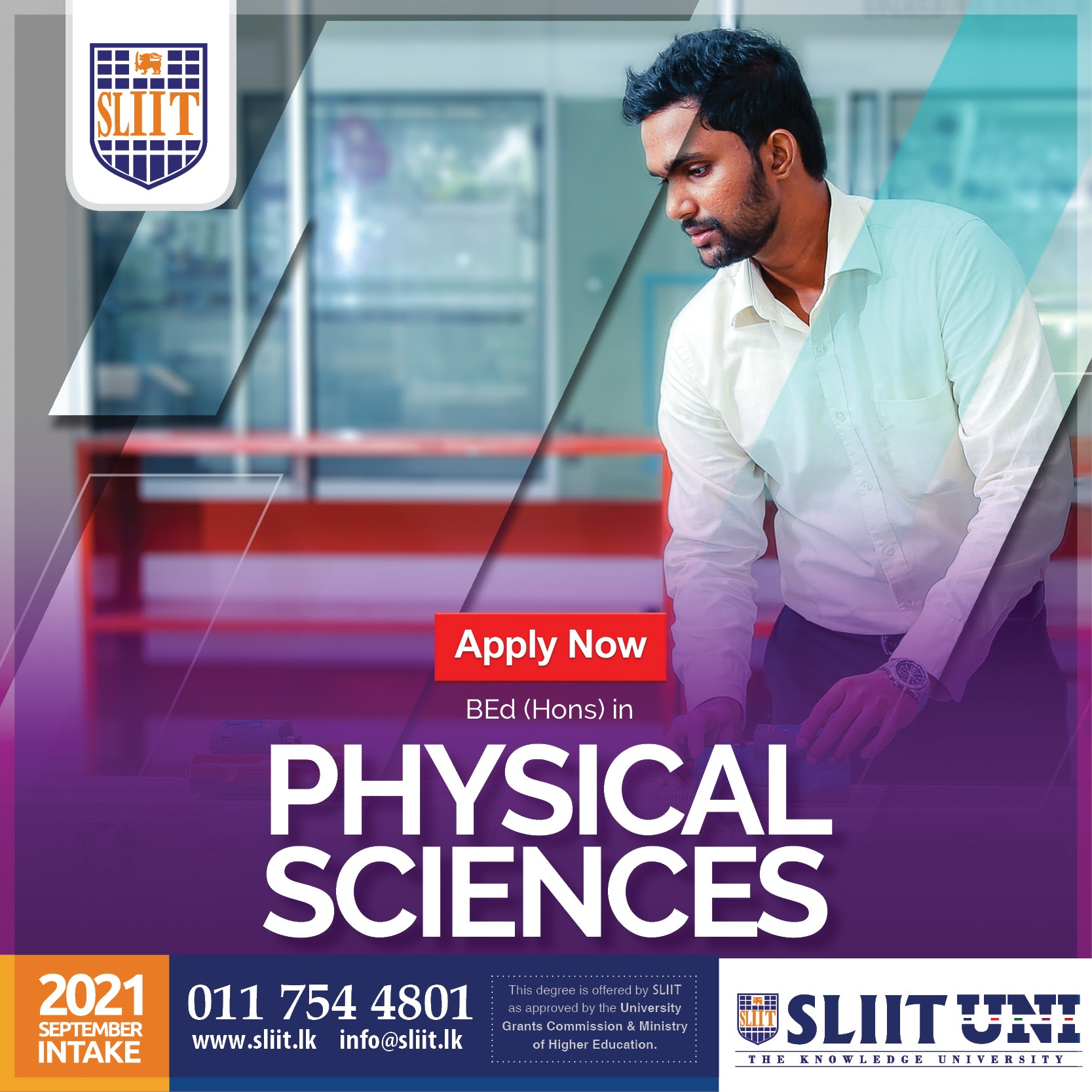 BEd (Hons) Physical Sciences Degree at SLIIT
