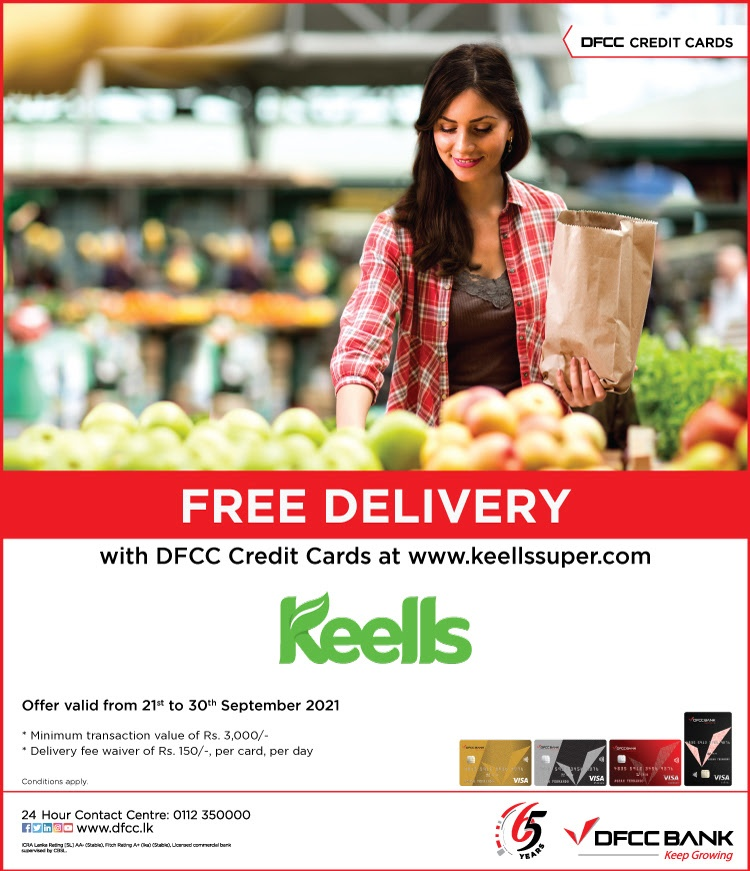 Enjoy FREE delivery when you shop at keellssuper.com with DFCC Credit Cards!