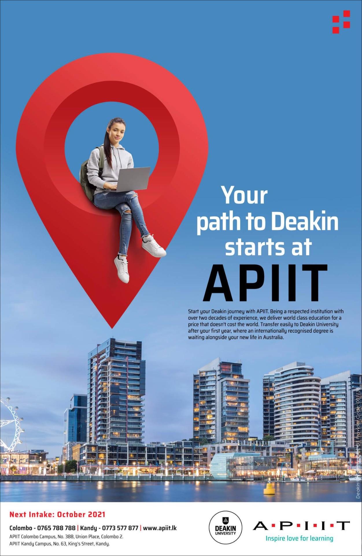 Your Path to Deakin Starts @ APIIT!