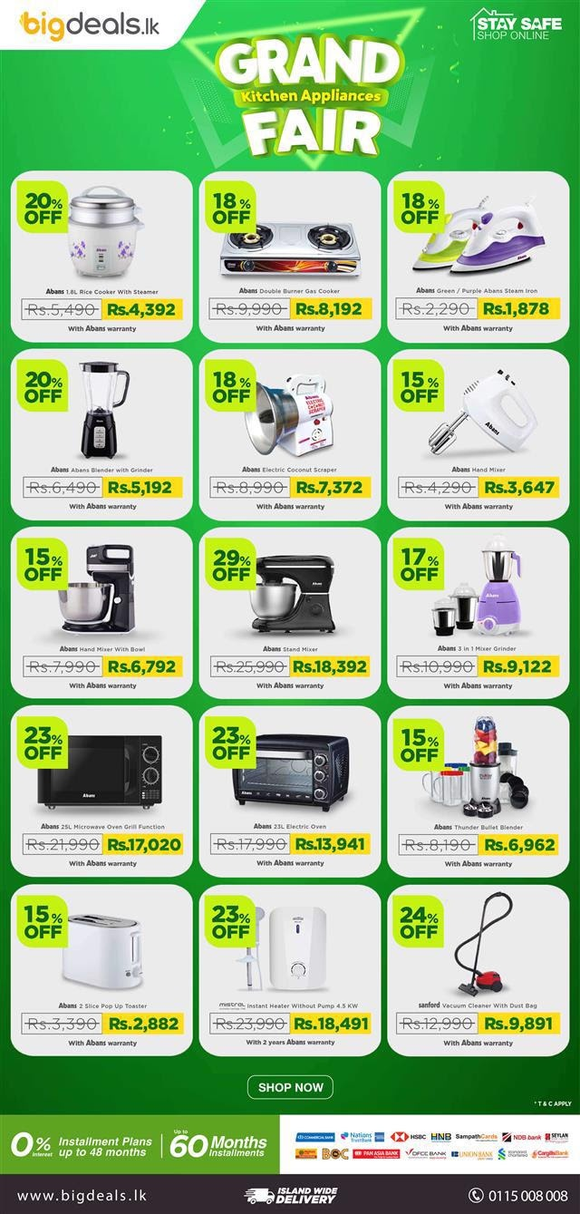 The Grand Kitchen Appliances Fair has begun! Up to 29% OFF on ovens, mixers, blenders & more!