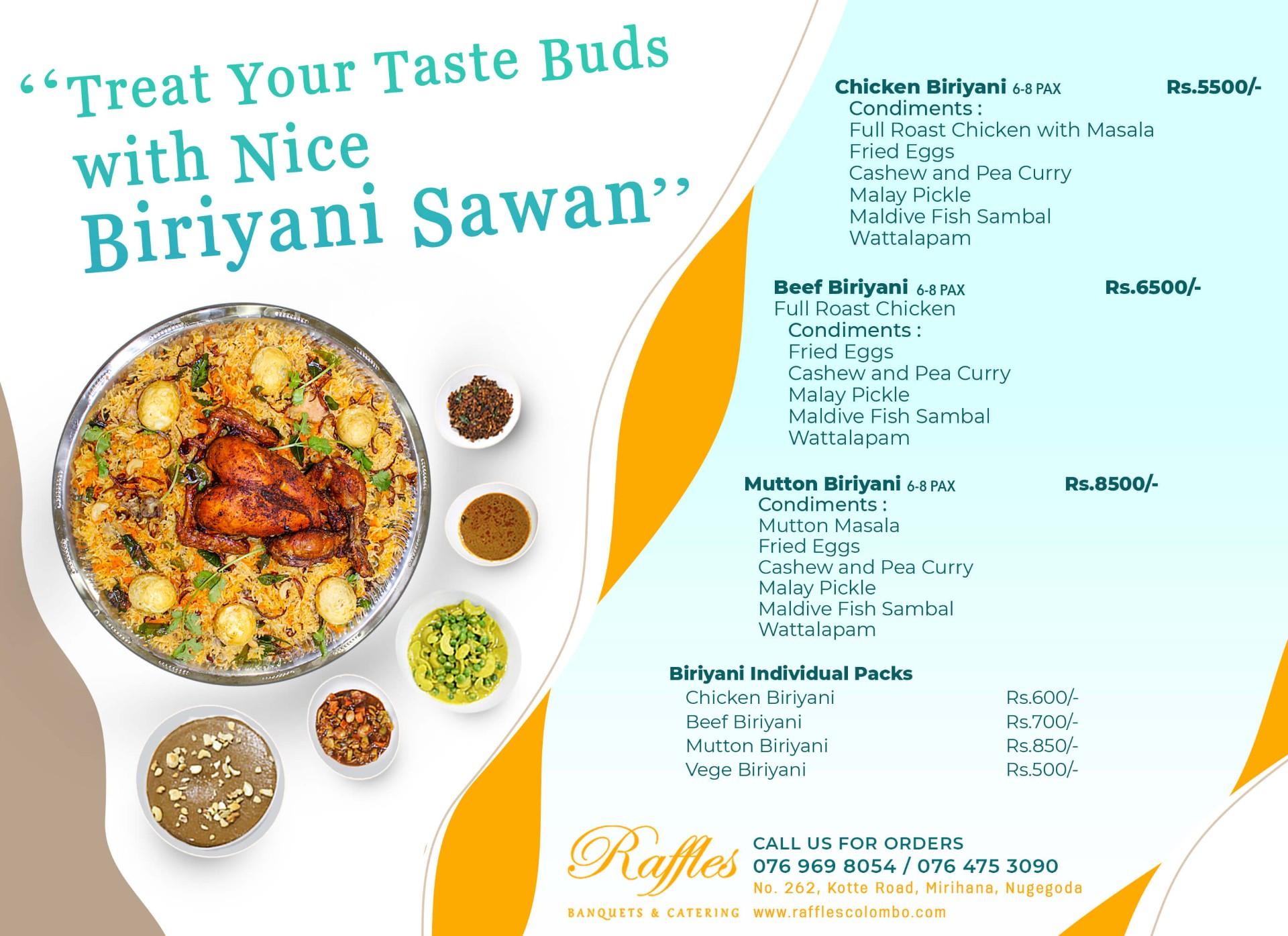 Treat your taste buds with nice Biriyani Sawan!