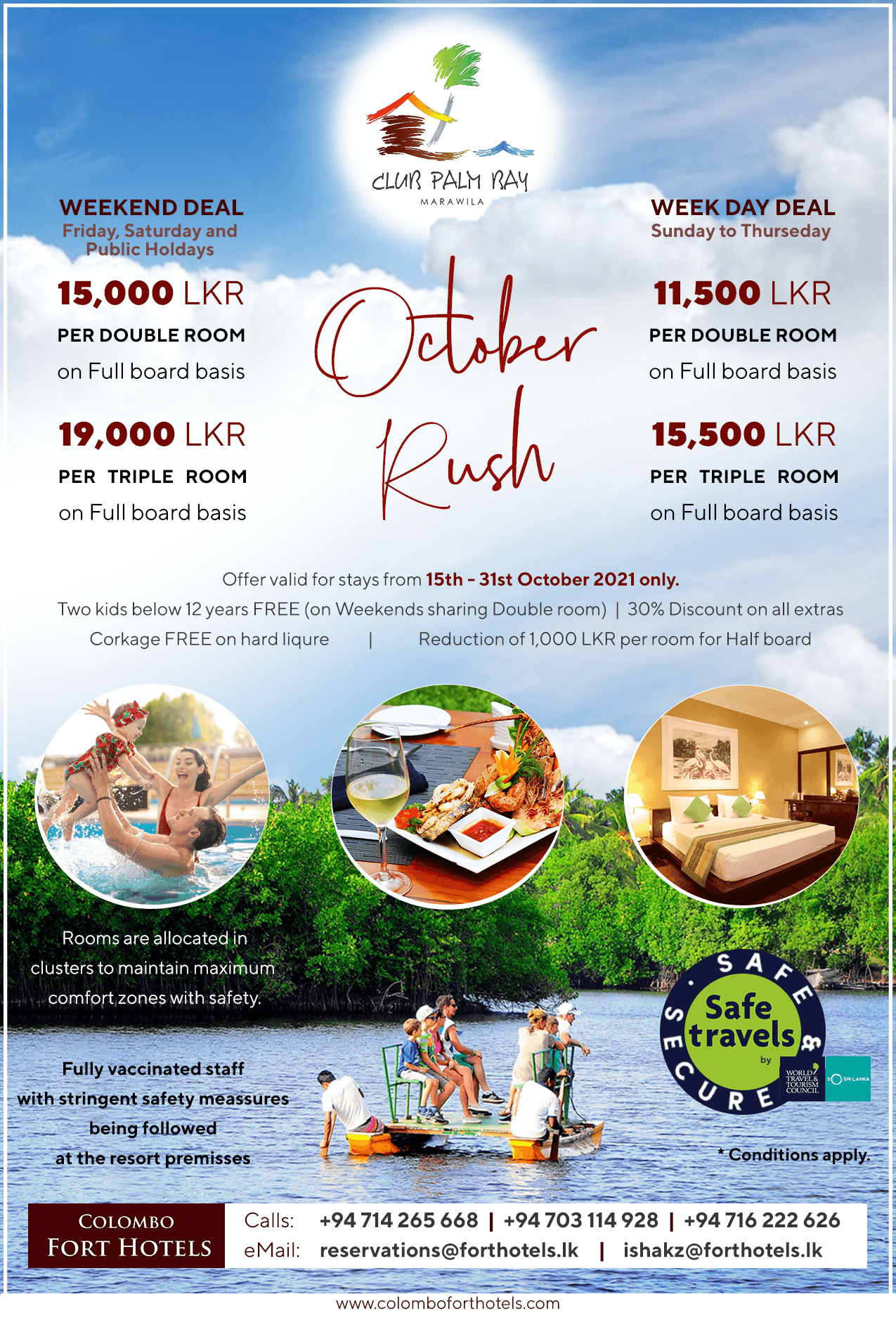 CLUB PALM BAY – OCTOBER RUSH Special offer
