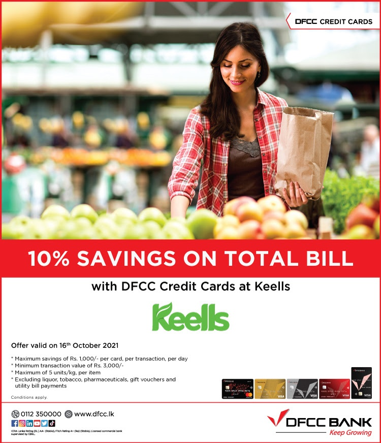 Enjoy 10% Savings at Keells with DFCC Credit Cards!