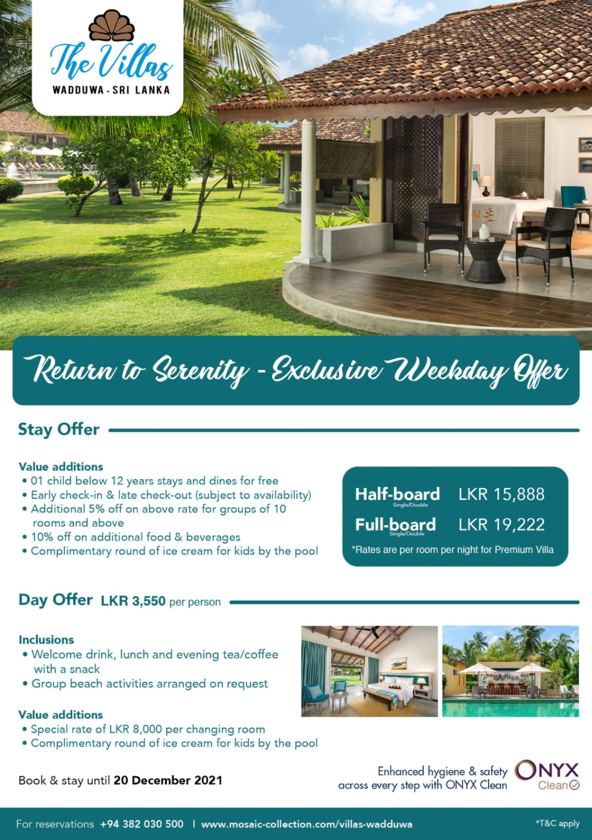 Return to serenity - exclusive weekday offer