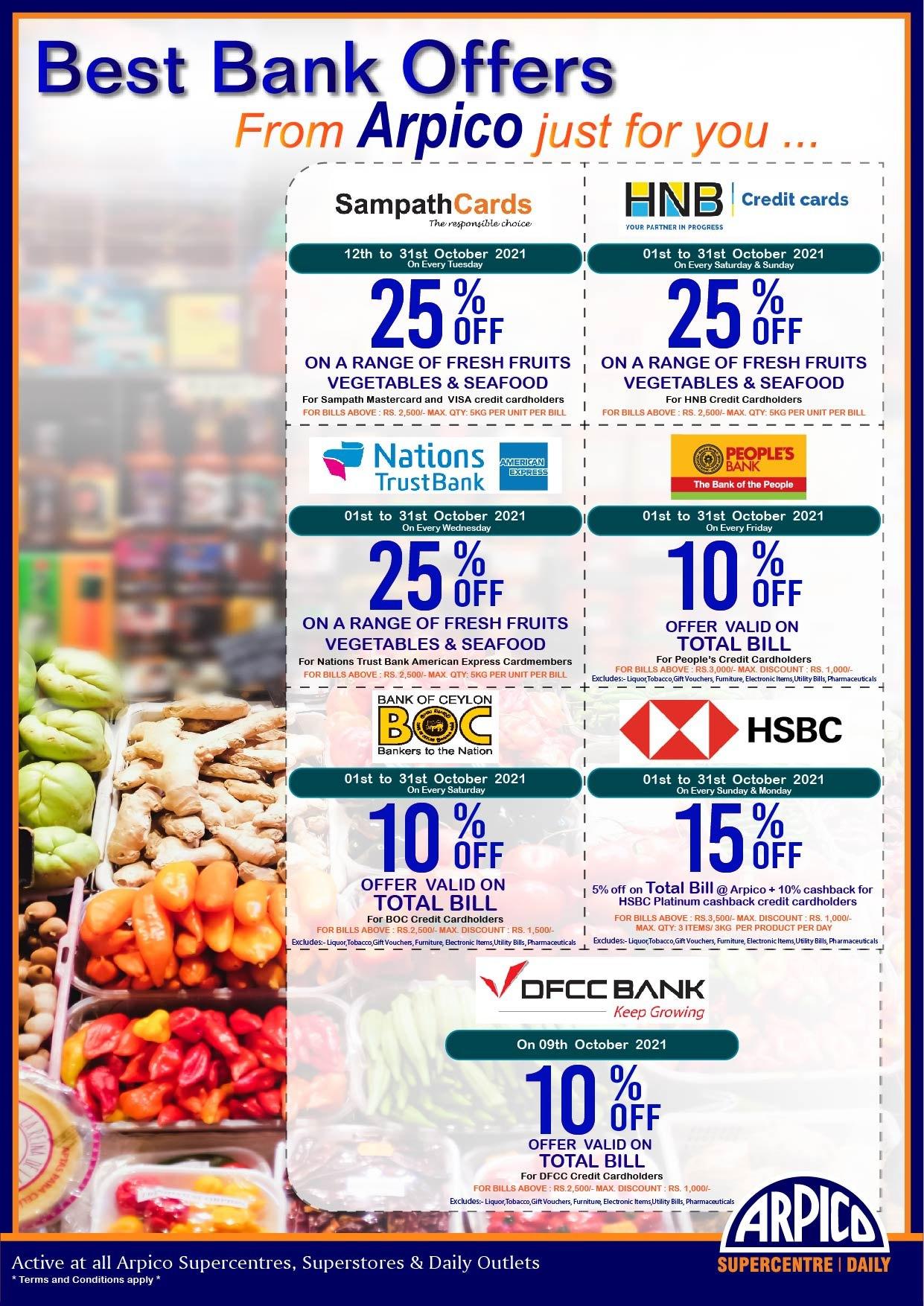 Arpico Supercentre Bank Promotion