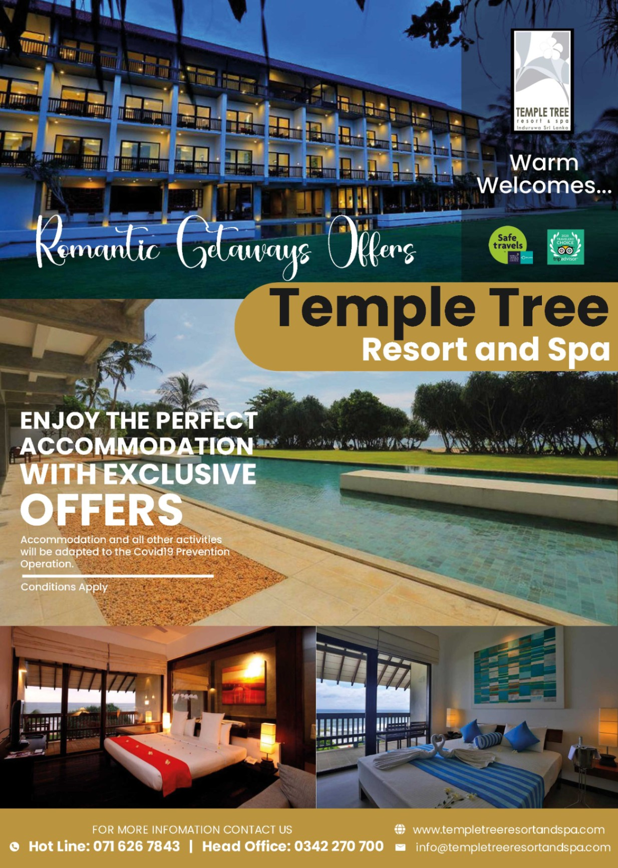 Temple Tree Resort and Spa-Romantic Getaways Offers