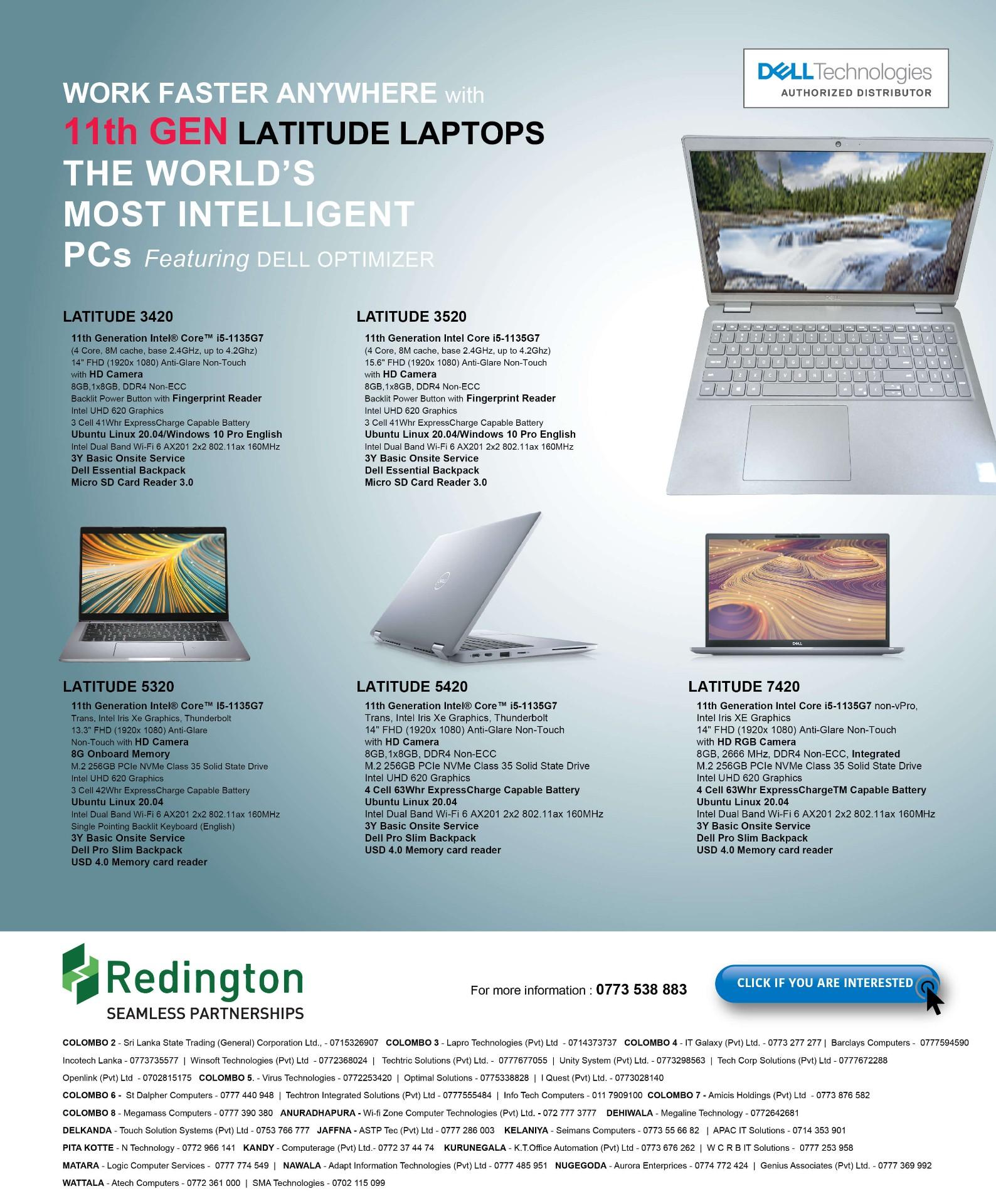 Dell Latitude 11th Gen Laptop