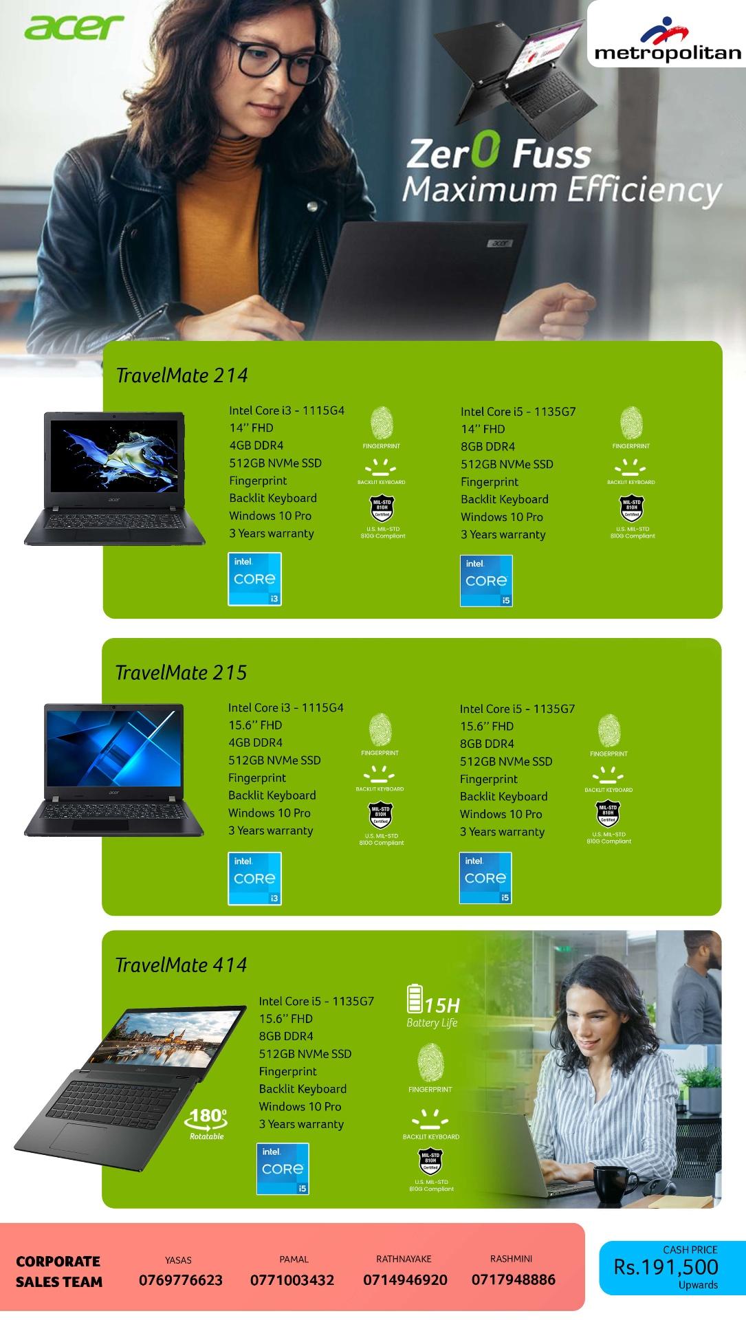Zero Fuss Maximum Efficiency–Acer TravelMate