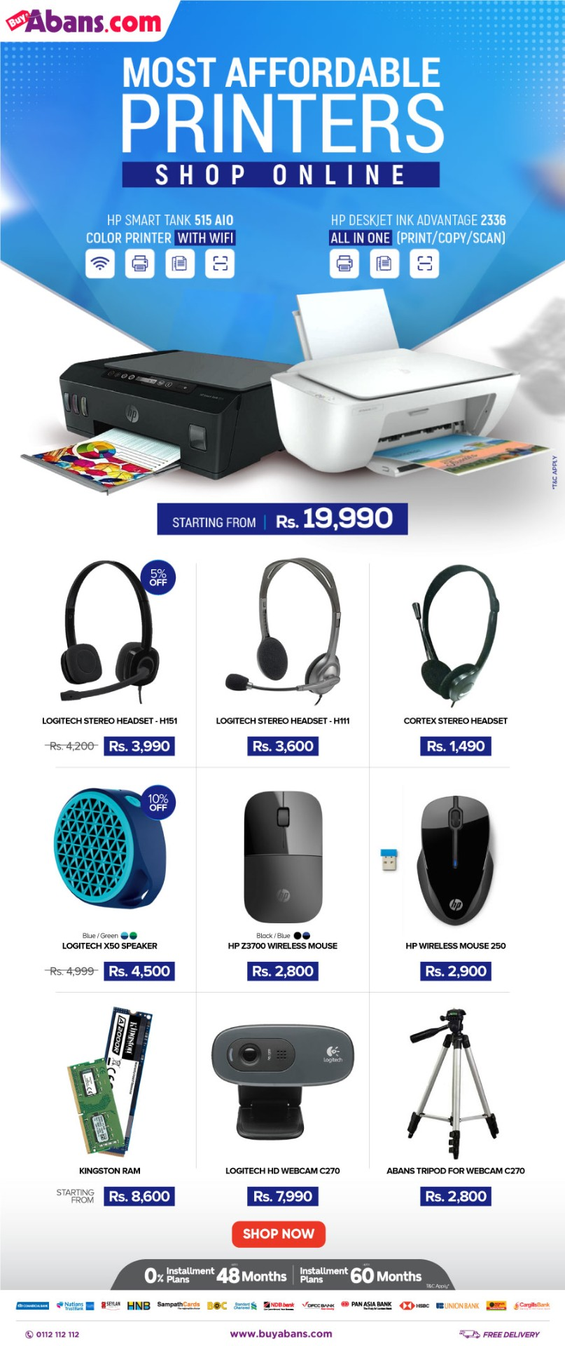 Affordable Printers & PC Accessories! Buy online at BuyAbans.com