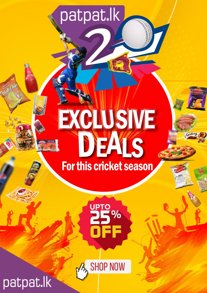 PATPAT20 CRICKET DEALS! Grab your snacks and enjoy this season of cricket with patpat.lk!