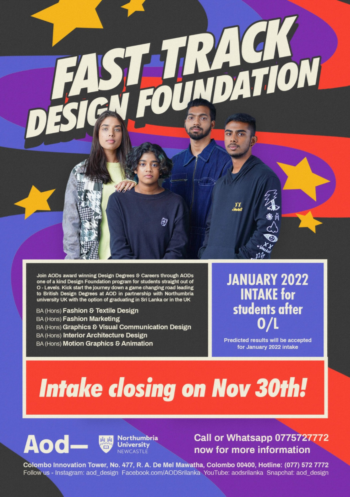 AOD-Fast Track Design Foundation for January Intake 2022